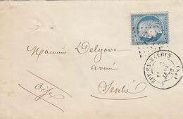 FRANCE - LETTRE CLASSIQUE CREPY-EN-VALOIS OISE  POUR SENLIS  - GC 1218 / 2 - 1849-1876: Klassik