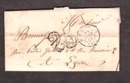 LAC - Septembre 1851 - Le Puy Pour Lyon - Port Dû Taxe 25 - 1849-1876: Klassik