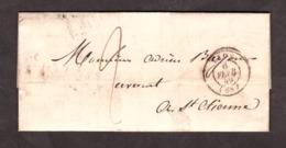 LAC - 6 Février 1849 - Lyon Pour St Etienne - Port Dû 2 Décimes - 1849-1876: Klassik
