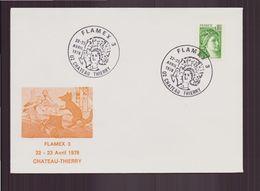 """France, Enveloppe Avec Cachet Commémoratif """" Flammes D'oblitération Flamex 3 """" Du 22 Avril 1978 à Château-Thierry - Poststempel (Briefe)"""