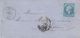 FRANCE - LETTRE CLASSIQUE TOUCY YONNE  POUR AUXERRE  - GC 3977 / 2 - 1849-1876: Klassik