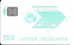 CARTE-PUCE-OPT-DJIBOUTI-LOGO-150U-SC5-V°N°-Ge24402-0 Envers-R/V° Mat-Vert Pale-Utilisé-TBE - Gibuti