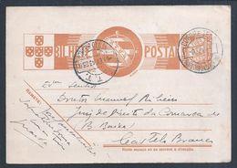 Tuberculosis. Postal Stationery Obliteration Sanatorium Sousa Martins 1943, Guarda. Sierra Star. 2ª WW. Queen Amélia Rar - Medicina