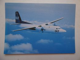 DLT   FOKKER 50   AIRLINE ISSUE / CARTE COMPAGNIE - 1946-....: Ere Moderne