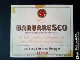 BARBARESCO F.LLI SERIO E & BATTISTA BORGOGNO - BAROLO (CUNEO) - ETICHETTA - ÉTIQUETTE - Vino Rosso