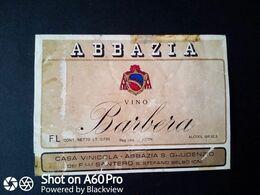 BARBERA ABBAZIA - ABBAZIA S. GAUDENZIO DEI F.LLI SANTERO - S. STEFANO BELBO (CN) - ETICHETTA - ÉTIQUETTE - Vino Rosso