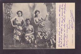 CPA Tahiti Océanie Océania Polynésie Femme Women Nu Féminin Femme Nue Nude Circulé - Tahiti