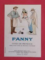 COTES DE PROVENCE ETIQUETTE  DECOREE  BD FANNY  PAR A .POVEDA     11/08/20 - Fumetti