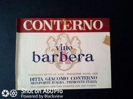 BARBERA CONTERNO - MONTEFORTE D'ALBA (CUNEO) - ETICHETTA - ÉTIQUETTE - Vino Rosso