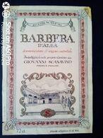 BARBERA D'ALBA SCANAVINO - PRIOCCA (CUNEO) - ETICHETTA - ÉTIQUETTE - Vino Rosso