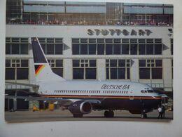 DEUTSCHE BA  B 737-300  AIRLINE ISSUE / CARTE COMPAGNIE - 1946-....: Ere Moderne