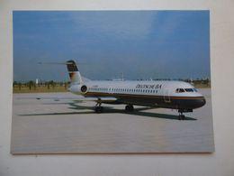 DEUTSCHE BA   FOKKER 100  AIRLINE ISSUE / CARTE COMPAGNIE - 1946-....: Ere Moderne