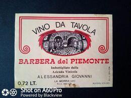BARBERA DEL PIEMONTE AZIENDA ALESSANDRIA GIOVANNI - LA MORRA (CUNEO) - ETICHETTA - ÉTIQUETTE - Vino Rosso