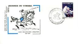14172031 BE 19720423 Jemappes; Journée Du Timbre, Apollo 15; FDC Cob1622 - FDC