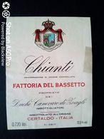 CHIANTI BASSETTO - DUCHI CANEVARO DI ZOAGLI - CERTALDO (FIRENZE) - ETICHETTA - ÉTIQUETTE 2 - Vino Rosso