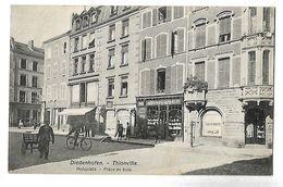 57 DIEDENHOFEN THIONVILLE PLACE AU BOIS 1909 CPA 2 SCANS - Thionville