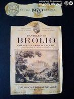 CHIANTI CASTELLO DI BROLIO 1970 - BARONE RICASOLI - ETICHETTA - ÉTIQUETTE - Vino Rosso