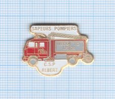 Pin's Sapeurs Pompiers CSP Albert – 80 Somme - Pompiers