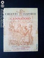 CHIANTI CENNATOIO DEI F.LLI ALESSI - PANZANO GREVE (FIRENZE) - ETICHETTA - ÉTIQUETTE - Vino Rosso
