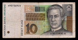 Croatie - 10 Kuna - 1995 (verso Voir Scan) - Croatia