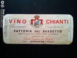 CHIANTI BASSETTO - DUCHI CANEVARO DI ZOAGLI - CERTALDO (FIRENZE) - ETICHETTA - ÉTIQUETTE - Vino Rosso