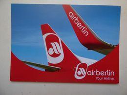 AIR BERLIN  B 737-800    AIRLINE ISSUE / CARTE COMPAGNIE - 1946-....: Ere Moderne