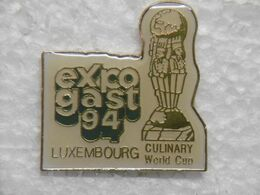 """Pin's - Alimentation EXPOGAST """"Culinary World Cup"""" LUXEXPO / LUXEMBOURG - Levensmiddelen"""