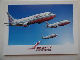 AIR BERLIN  B 737   AIRLINE ISSUE / CARTE COMPAGNIE - 1946-....: Ere Moderne