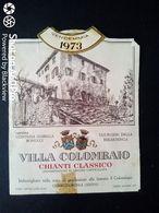 CHIANTI VILLA COLOMBAIO 1973 - CANTINA CONTESSA ISABELLA BONUCCI UGURGERI DELLA BERARDENGA, ETICHETTA - ÉTIQUETTE - Vino Rosso