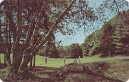 ECHO LAKE, Pennsylvania, 1954; No. 2 Green Of 3000 Yard Private Golf Course At VACATION VALLEY - United States