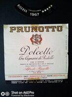 DOLCETTO 1967 - CRU CAGNASSI DI RODELLO - ETICHETTA - ÉTIQUETTE - Vino Rosso