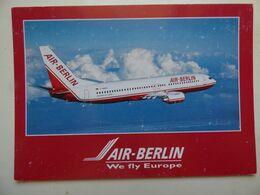 AIR BERLIN  B 737- 800   AIRLINE ISSUE / CARTE COMPAGNIE - 1946-....: Ere Moderne