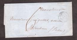 LAC - Octobre 1838 - Levroux Pour Issoudun - Port Dû 6 Décimes ? - Verso Ambulant Nuit - 1801-1848: Vorläufer XIX