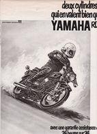 Feuillet De Magazine Moto Yamaha RD 350 1974 - Moto