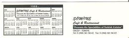 ETIQUETTE  PUBLICITE CAFE RESTAURANT SONIRNE ??? URGUP TURQUIE - Etiketten Van Hotels