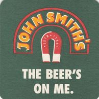 BEERMAT - JOHN SMITH'S BREWERY  (TADCASTER, ENGLAND) - THE BEER'S ON ME - (Cat No 183) - (2001) - Portavasos