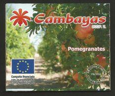 # POMEGRANATES CAMBAYAS Spain Tag Balise Etiqueta Anhänger Cartellino  Melograno Granada Fruits Frutas Frucht - Fruits & Vegetables