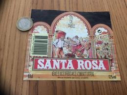 Etiquette * « VIN DE TABLE - SANTA ROSA - SVG (29) » - Vino Rosso