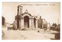 TALMONT  L EGLISE ET LES HALLES - Talmont Saint Hilaire
