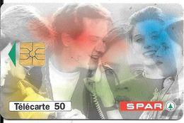 CARTE-PUCE-PRIVEE-PUBLIC- 50U-EN916-GEMA-03/94-SPAR-Série 2001-R°Laqué-Utilisé-TBE-LUXE - 50 Units