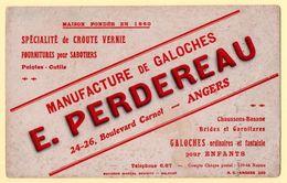Buvard E.Perdereau, Manufacture De Galoches, Bd. Carnot à Angers. Fournitures Pour Sabotiers, Galoches Pour Enfants. - Chaussures