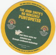 BEERMAT - JOHN SMITH'S BREWERY  (TADCASTER, ENGLAND) - NO NONSENSE PUNTOMETER - (Cat No 336) - (2013) - Portavasos