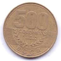 COSTA RICA 2003: 500 Colones, KM 239 - Costa Rica