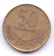 COSTA RICA 2002: 50 Colones, KM 231.1a - Costa Rica
