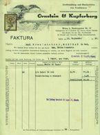 """Österreich Wien 1928 Rechnung Deko + Stempelmarke Fiskalmarke """" ORNSTEIN & KUPFERBERG Textil """" - Österreich"""