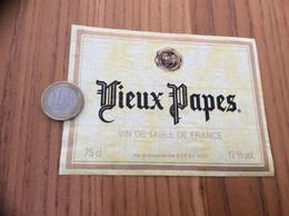 Etiquette ** «Vin De Table - Vieux Papes - SVF (92) » Type 2 - Vino Rosso