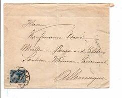 ESPAGNE LETTRE POUR L'ALLEMAGNE 1899 - 1889-1931 Royaume: Alphonse XIII
