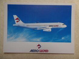 AERO LLOYD   AIRBUS A 320    AIRLINE ISSUE / CARTE COMPAGNIE - 1946-....: Ere Moderne