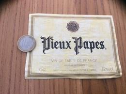 Etiquette ** «Vin De Table - Vieux Papes - F (49) » Type 2 - Vino Rosso