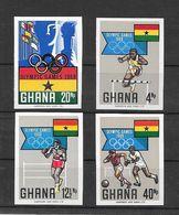 Ghana Série Complète Non Dentelé Imperf ND JO 68 ** - Zomer 1968: Mexico-City